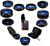 5StarPrime Phone Camera Lens Kit - 9 in 1 Macro Zoom, Super Wide Angle, Telephoto, Fisheye, CPL, Kaleidoscope, Starburst - Compatible iPhone, Samsung, Android Phone Tablet