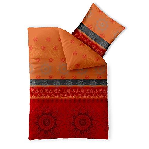 2-teilige Bettwäsche | verschiedene Größen | 4-Jahreszeiten Baumwolle Renforcé OEKO-TEX | 2 tlg. 135 x 200 cm | CelinaTex 5000380 Fashion Legra Rot Orange