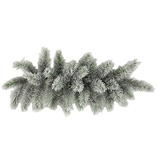 Admired By Nature GXW4914-SNOW 34 Tips Christmas Pine Swag with Frosted Snow Tips - Pine Door Swag