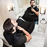 Facial Hair Or Clean Shaven - Clean Cut Premium Beard Bib Hair Clippings Catcher & Beard Grooming Cape Apron With Suction Cups No More Beard Trimmings In The Sink & Clogged Drains Great Practical Gift For Men Of All Age