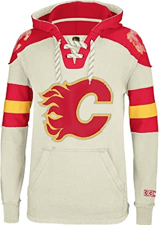 hot sale online 982ad 19ce3 Calgary Flames CCM Vintage NHL Classic Fleece Pullover ...