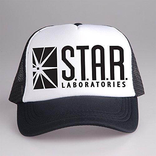 [Star Labs Logo The Flash TV Trucker Cap Hat White and Black CPT-058 C-1 G-1] (Trucker Girl Costume)