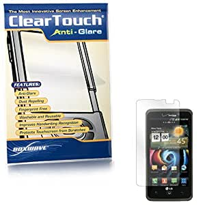 BoxWave LG Spectrum ClearTouch Anti-Glare Screen Protector - Premium Quality Anti-Glare, Anti-Fingerprint Matte Film Skin to Shield Against Scratches (Includes Lint Free Cleaning Cloth and Applicator Card) - LG Spectrum Screen Guards