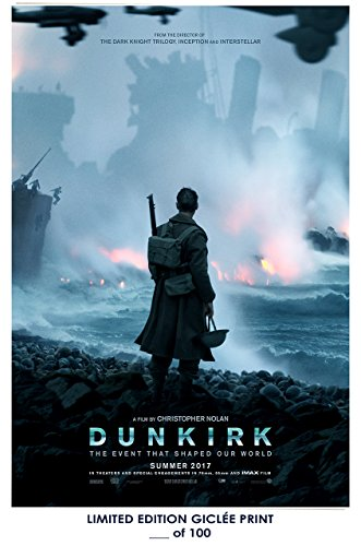 Rare Poster thick Dunkirk christopher nolan 2017 movie Reprint #'d/100!