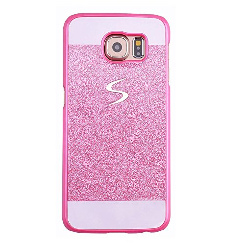 Galaxy S5 Mini Case, ARSUE (TM) Beauty Luxury Hybrid Bling Rhinestone Diamond Crystal Glitter Hard Case Cover Shell Phone Case for Samsung Galaxy S5 Mini (S5 NOT fit) (Hot Pink) (Diamond Core Jersey)