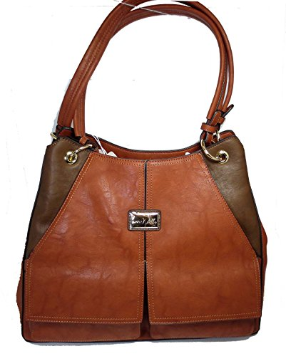 Noelle Vegan Faux Leather Winchester Large Handbag In Chocolate No-wb-hb12 Chocolate