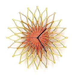 Fireworks II - Large Stylish Wooden Wall Clock, Sunburst Clock