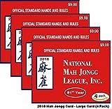 National Mah Jongg League 2018 Scorecard - Large Print (4 Pack)