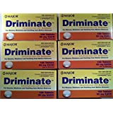 [6 Pack] Driminate® Dimenhydrinate 50mg 100 Ct for Nausea, Dizziness and Vomiting From Motion Sickness (Pack of 6 Bottles) *Compare to the Same Active Ingredients Found in Dramamine® & Save*
