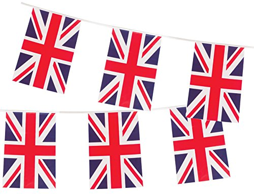 British Union Jack Large Flag Banner by Gabby Fun (British Party Decorations)