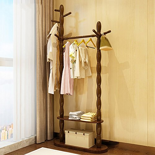 LQQGXLModern minimalist coat rack, Solid Wood Hanger Floor Hanger Bedroom Hanger Bag Clothes Shelf (Color : 2#, Size : 18067cm) by LQQGXL