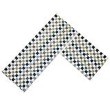 O'Family 2 Piece Microfiber Chevron Non-Slip Soft Kitchen Mat Bath Rug Doormat Runner Capet Set,Mosaic Design