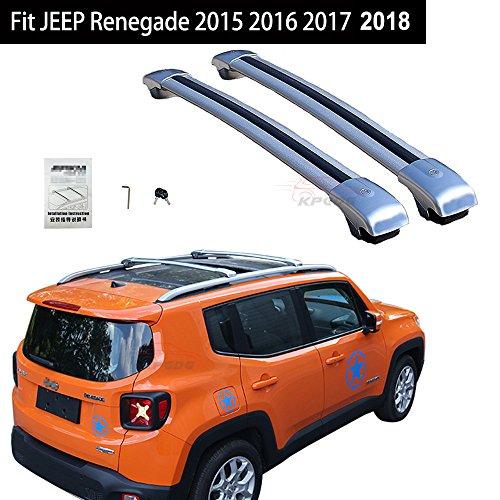 Fit For JEEP Renegade 2015 2016 2017 2018 Lockable Crossbars Cross Bar Roof Racks Baggage Luggage Racks - Silver -  KPGDG, EJPZYXY