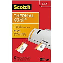 MOT Scotch TP585325 Luggage Tag Size Thermal Laminating Pouches, 5 mil, 4 1/5 x 2 1/2, 25/Pack