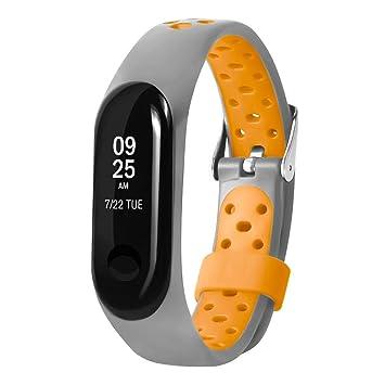 Cooljun pour Xiaomi Mi Band 3, Nouveau Bracelet en Silicone léger à ventiler pour Sport