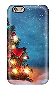 Hot Snap On Beautiful Christmas Trees Hard Cover Case Protective Case For Iphone 6