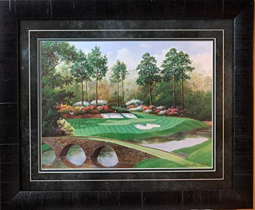 Hole Augusta 12th National - WildlifePrints Charles Beck 12th Hole at Augusta Golden Bell Framed Print 23 x 19
