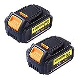 Topbatt 20V 5.0Ah Replacement Battery for Dewalt Max XR Lithium Cordless Drill DCB200 DCB180 2Packs
