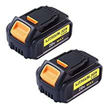 Topbatt 20V 5.0Ah Battery for Dewalt Max XR Lithium Cordless Drill DCB200 DCB180 2Packs