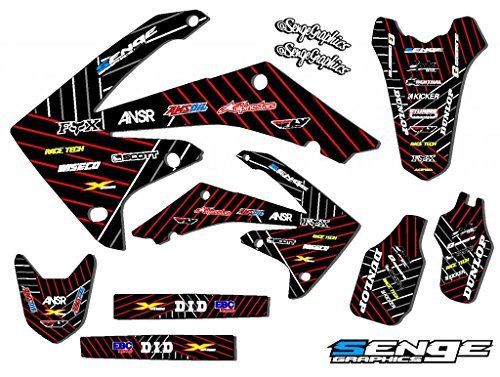 Senge Graphics Kit Compatible with Honda 2003-2013 CR 85 Race Series Black Graphics kit ()