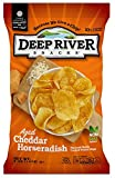 Deep River Snacks Aged Cheddar Horseradish Kettle Cooked Potato Chips, Non GMO, 5 Ounce (Pack of 12)