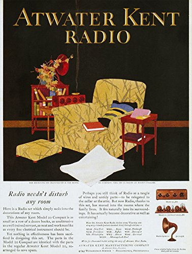 Atwater Kent Radio Ad 1925 Namerican Magazine Advertisement For The Atwater Kent Radio 1925 Poster Print by (24 x 36)