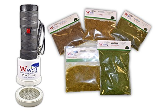 WWS Pro Grass Micro Static grass Applicator Embankment Kit by WWS Scenic Manufacturer