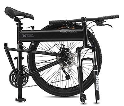 Montague 18-Inch Paratrooper Pro Folding Bike, Matte Black