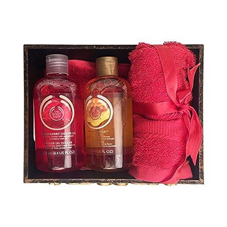 Bandeja de toalla toallas de mano de cesta con y geles de ducha en marrón textura: Casa o Oficina Uso - 8
