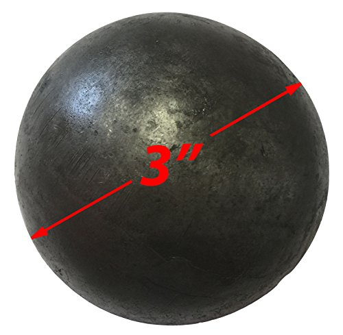 Hollow 3'' steel ball weldable DIY project component (1-pack) by WELDIY (Image #1)