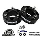 "Supreme Suspensions - Silverado Lift Kit 2"" Front Suspension Lift CNC Machined T6 Aircraft Billet Chevy Silverado 1500 Leveling Kit (Black) PRO"