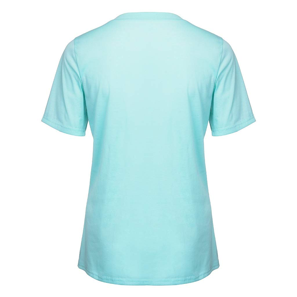 Colmkley Womens Short Sleeve Tee Graphic Print T-Shirt Casual O Neck Top Blouse