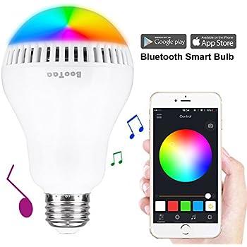 Bluetooth light bulb speaker e26 base bootaa smartphone - Control lights with smartphone ...