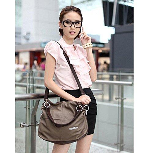Eysee - Bolso de tela para mujer marrón verde 33cm*32cm*11cm marrón claro