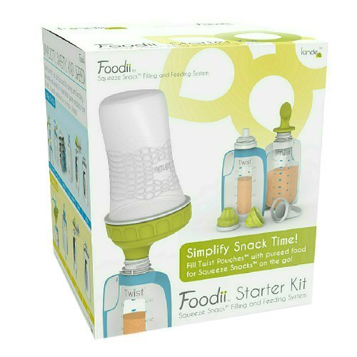 Kiinde Foodii Squeeze Snack Filling & Feeding Starter Kit 1 ea (Pack of 2)