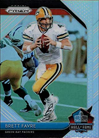Hall of Fame Prizm Retail  25 Brett Favre Green Bay Packers NFL Football  Trading Card 339873e29