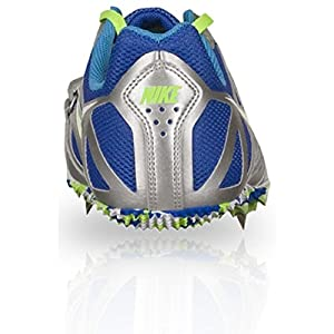 NIKE Men's Zoom Rival S 6 Track Field Spikes, Silver/Blue/Green
