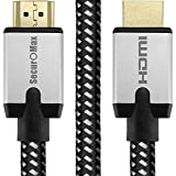 SecurOMax HDMI Cable 6 Feet (UHD 4K @ 60Hz, 18Gbps, HDMI 2.0) with Braided Cord and Ethernet Audio Return Channel