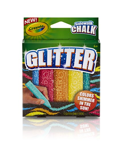 Crayola Special Effects Sidewalk Chalk - Glitter (5 chalk sticks)