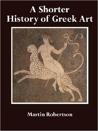 Book A Shorter History of Greek Art by Martin Robertson (1981-08-31)