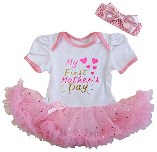 Kirei Sui Baby First Mother's Day Bodysuit Tutu M White (Valentines Outfits For Baby Girls)
