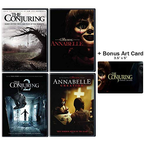 The Conjuring & Annabelle Horror Series: 4 Movie DVD Collection (The Conjuring 1 & 2 / Annabelle / Annabelle: Creation) + Bonus Art ()