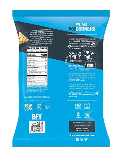 Popcorners White Cheddar Snack | Gluten Free Snack | (12 Pack, 7 oz Snack Bags), White Cheddar Feel-gunce Pack