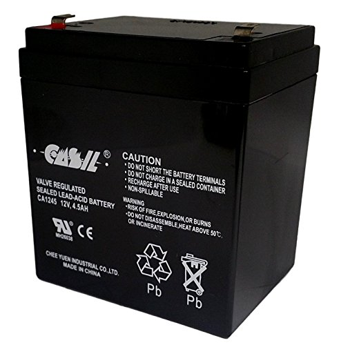 CASIL 12v 4.5ah Security Alarm Battery Replaces 4Ah DSC BD4-12