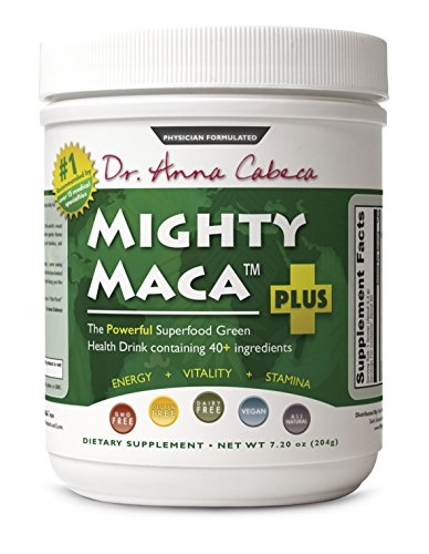 Mighty Maca Plus - Delicious, All-Natural, Organic Maca Superfoods Greens Drink, Allergen & Gluten Free, Vegan, Powder