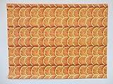 Kids Large Plastic Painting Floor Table Cover - Mat Design: Orange