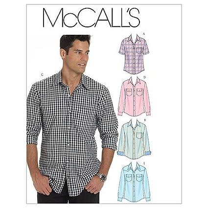 McCall/'s 2149 Sewing Pattern to MAKE Men/'s Shirt Choose Size Range Sm-XXXL