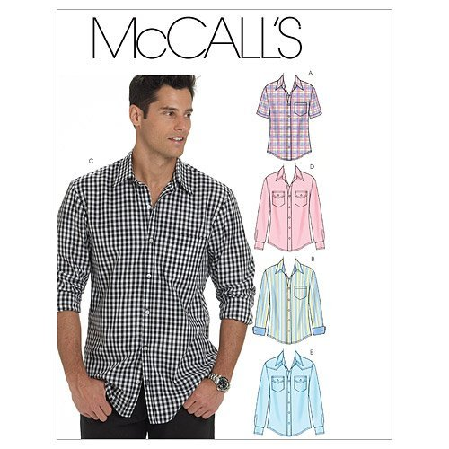 McCall's Patterns M6044 Men's Shirts, Size XN (X-XXL-XXXL)