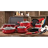 Pioneer Woman Cookware Best Deals - The Pioneer Woman Vintage Speckle 20-Piece Cookware Combo Set (Red)