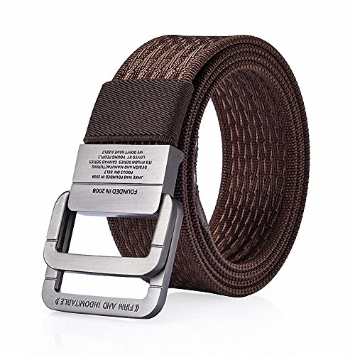 Ladie D-ring Belt (WJINER D-Ring Buckle Men Dress Canvas Elastic Fabric Woven Stretch Braided Belts Web Waistband)
